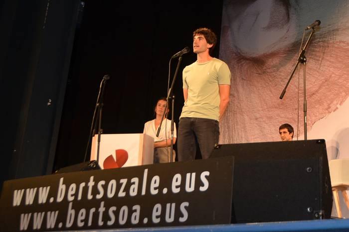 Asier Azpiroz Iztueta, Gipuzkoako Bertsolari Txapelketako larunbateko Andoaingo final laurdenean