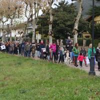 Euskal presoak etxeratzeko mobilizazioak hondartzetan