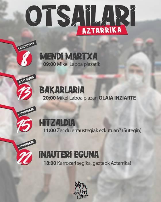 Aztarrika Gazte Asanbladakoen mendi martxa