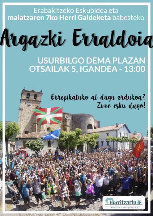 OTSAILAK 5: Argazki Erraldoia maiatzaren 7ko Herri Galdeketaren alde.