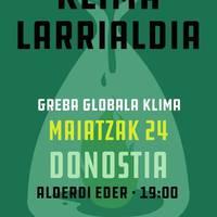 Klimaren aldeko nazioarteko greba: GuraSOSen eserialdia eta manifestazioa