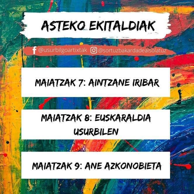 Euskaraldia, Gestalt Terapia eta trikiti doinuak egunotan, Usurbilgo Artixten eskutik