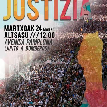 Autobus zerbitzua Altsasuko manifestazioa